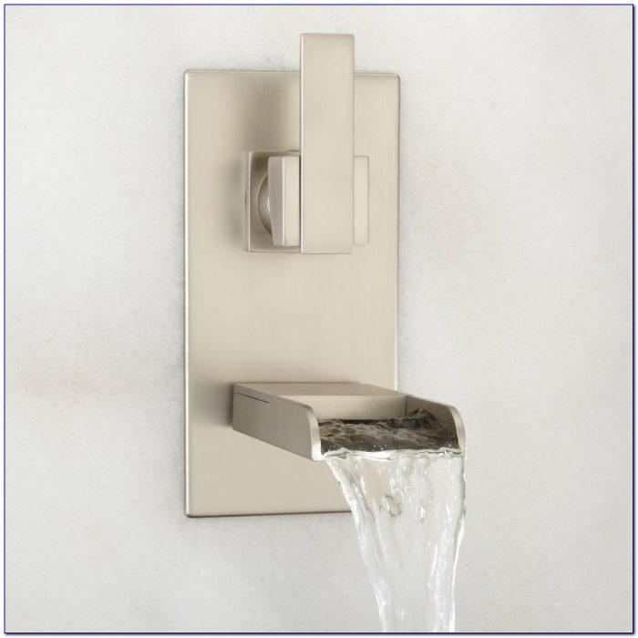 Wall Mounted Waterfall Faucets For Vessel Sinks