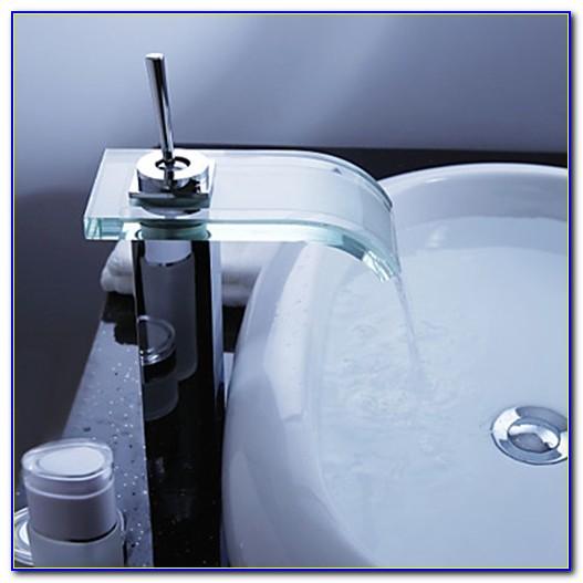 Waterfall Bathroom Sink Faucet Bronze
