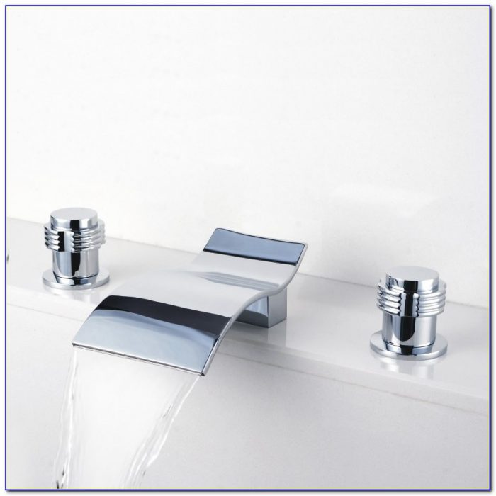 Waterfall Bathroom Sink Faucet Brushed Nickel