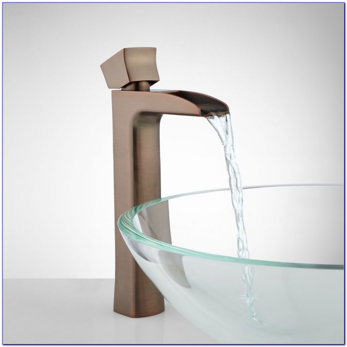Waterfall Bathroom Sink Faucet Led