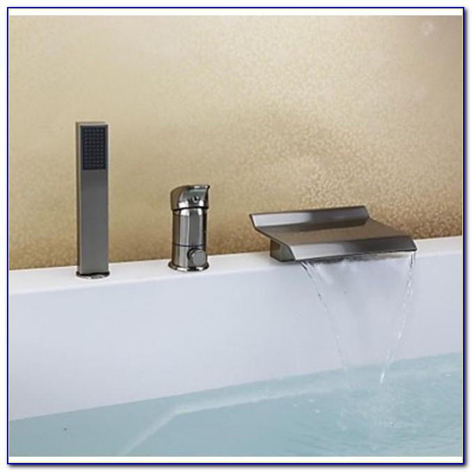 Waterfall Bathtub Faucet Brushed Nickel