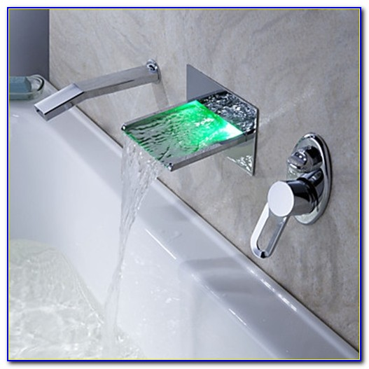 Waterfall Faucet For Tub Wall Mount