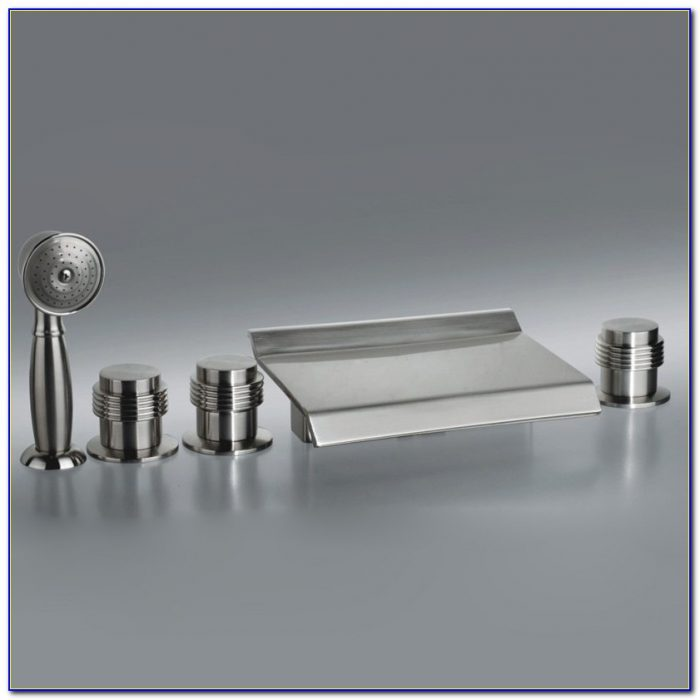 Waterfall Tub Spout Brushed Nickel