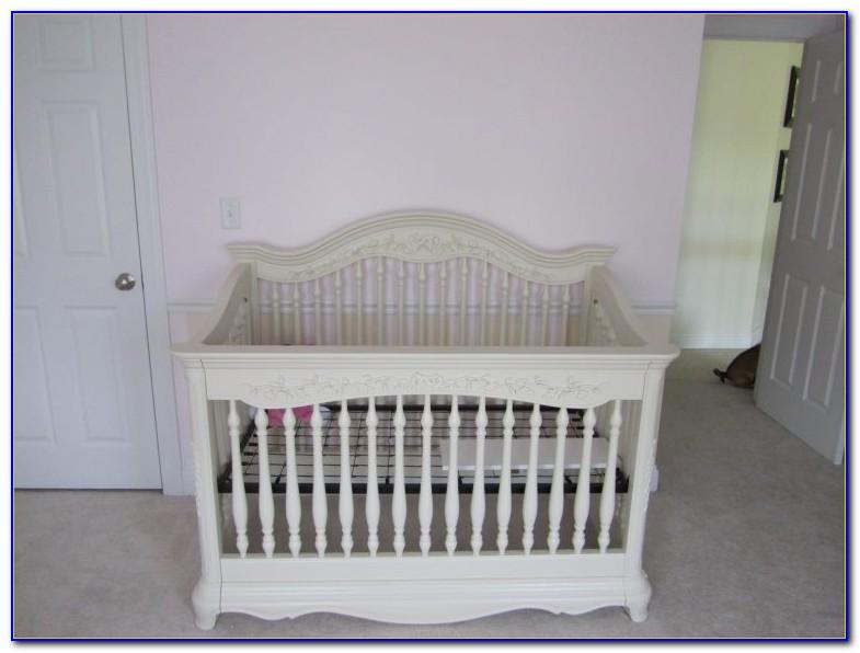 White Baby Crib And Dresser