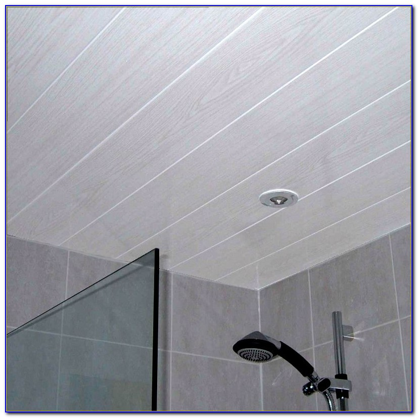 White Bathroom Ceiling Cladding Panels