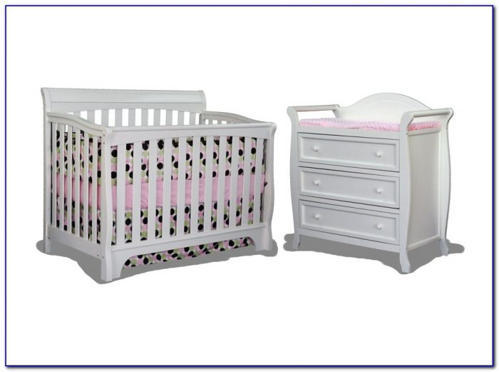 White Crib And Dresser Combo