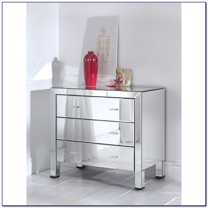 White Dresser With Mirror Drawers