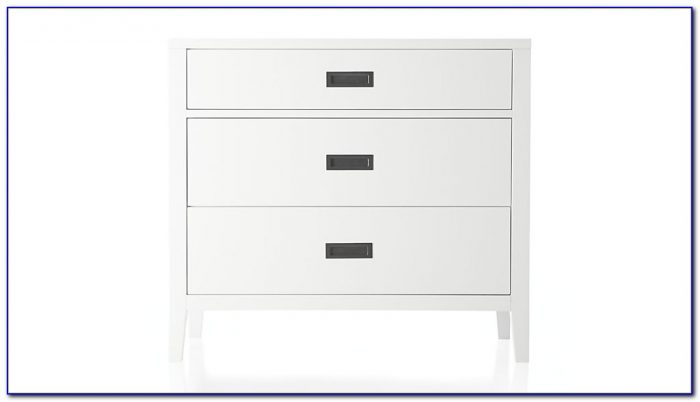 White Three Drawer Dressing Table