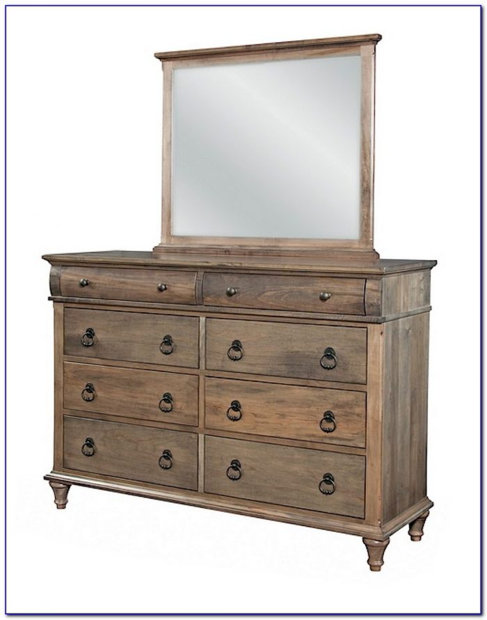 Wooden Mirrored Dresser