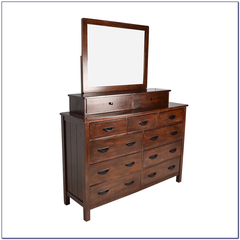Wooden Vanity Dresser With Mirror