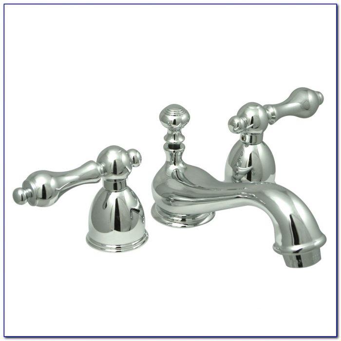 Antique Brass Bathroom Faucet 4 Inch Spread