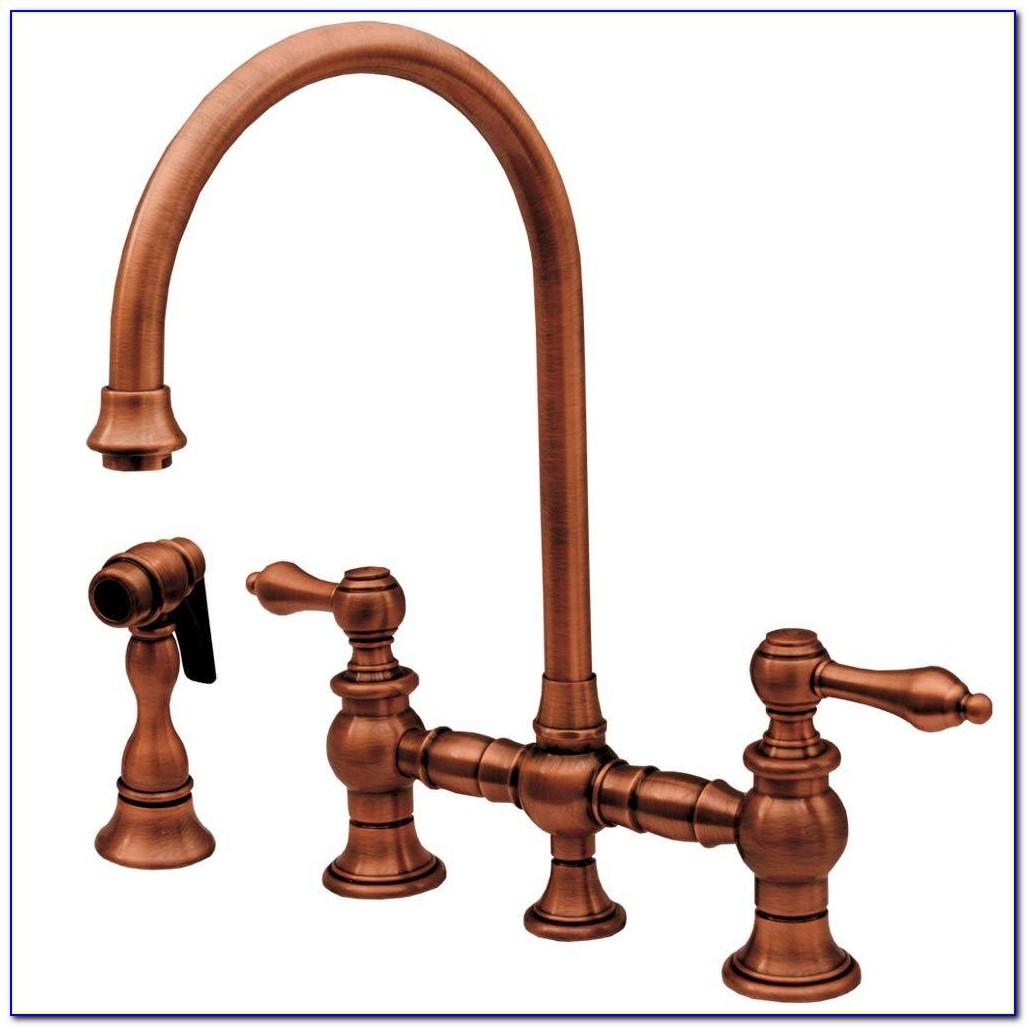 Antique Copper Wall Mount Bathroom Faucet