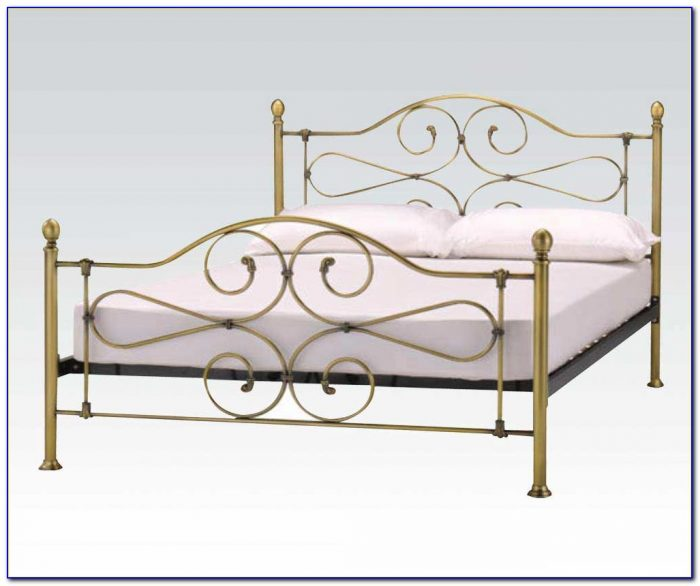 Antique Iron Headboard And Footboard