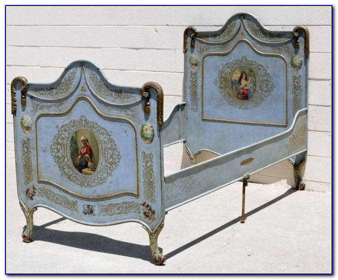 Antique Queen Headboard And Footboard