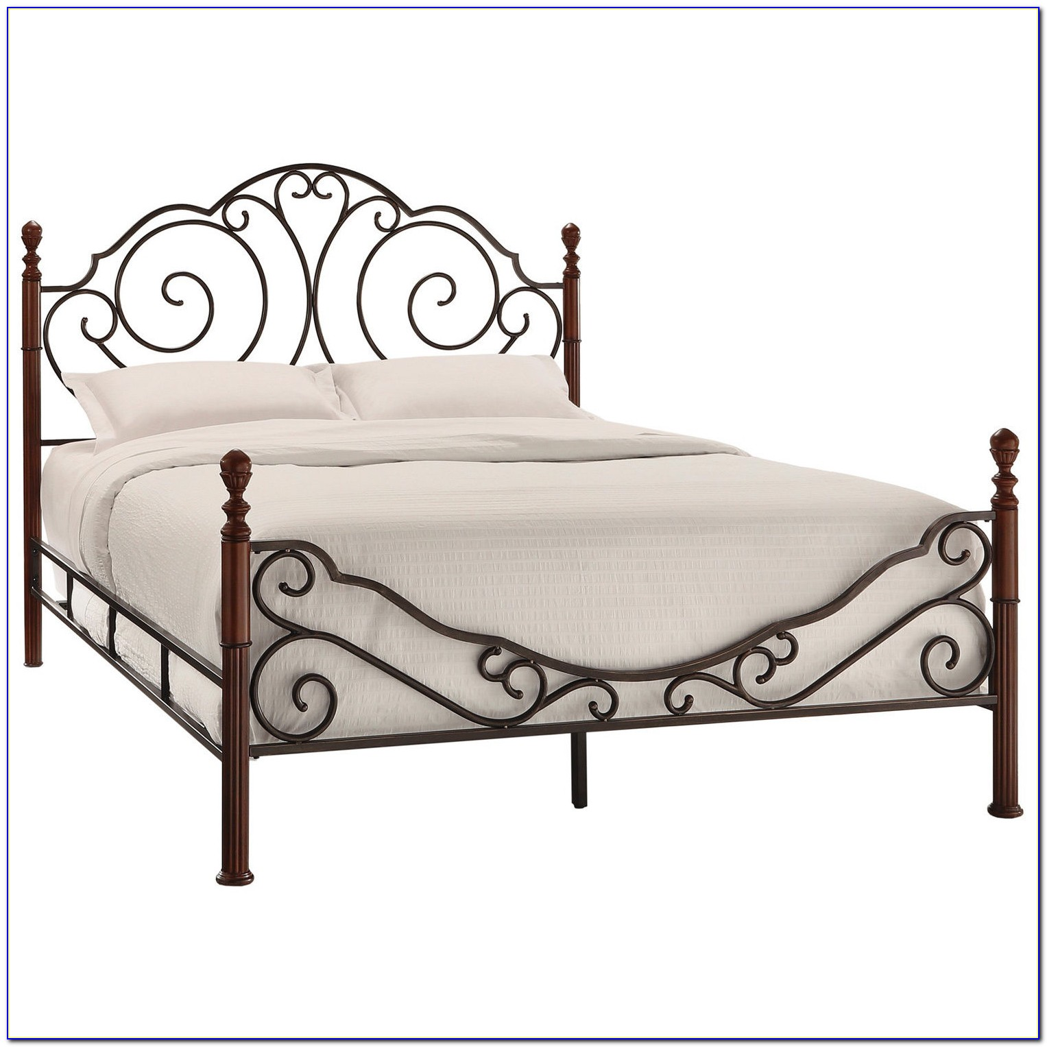 Antique Queen Metal Headboard And Footboard