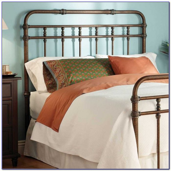 Antique Wrought Iron Headboard Queen
