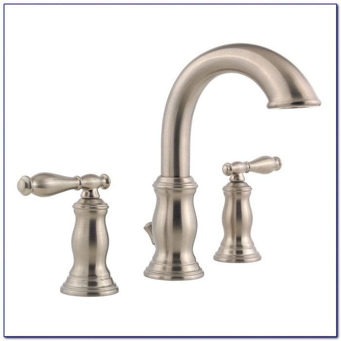 Aquafaucet Waterfall Bathroom Sink Faucet Brushed Nickel Glass Spout