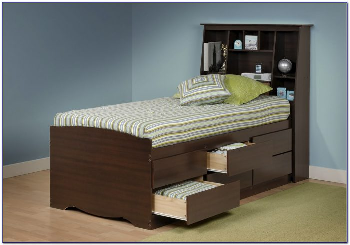 Bed Frame Headboard With Storage