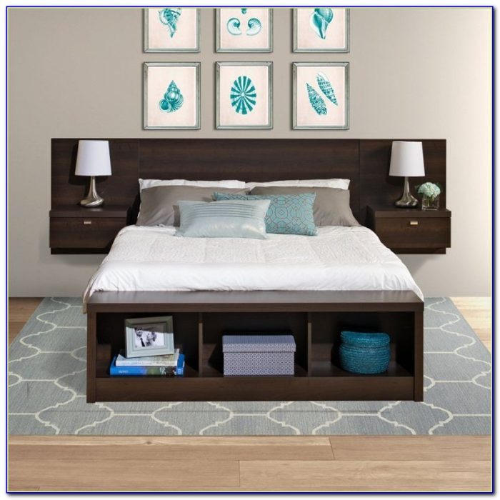 Bed Headboards With Shelves