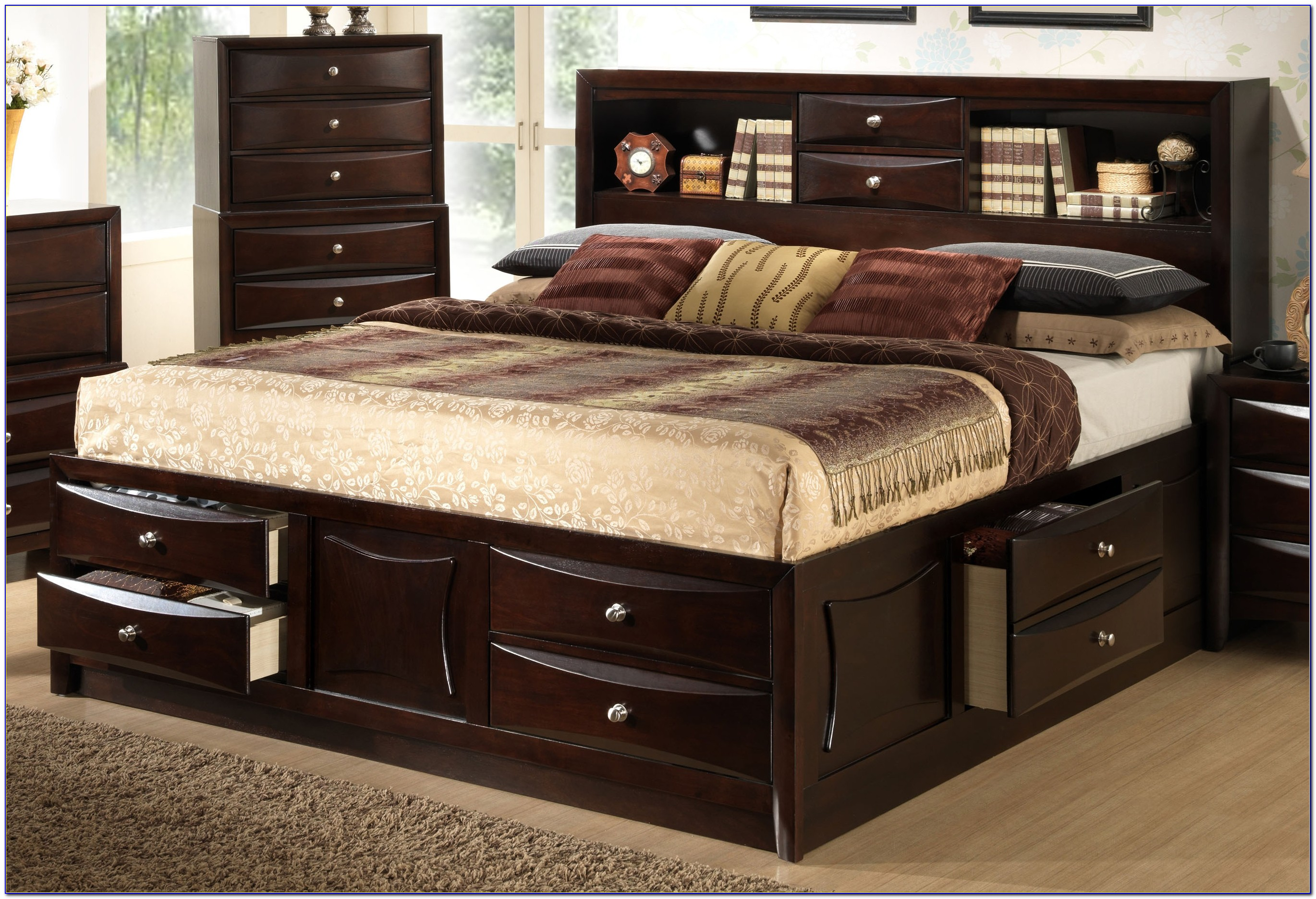 Beds With Storage Headboards King