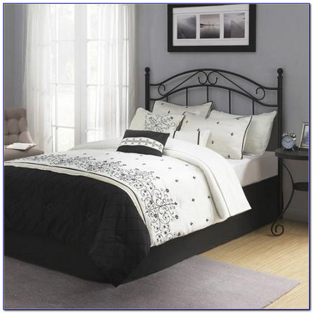 Black Queen Size Headboard And Footboard