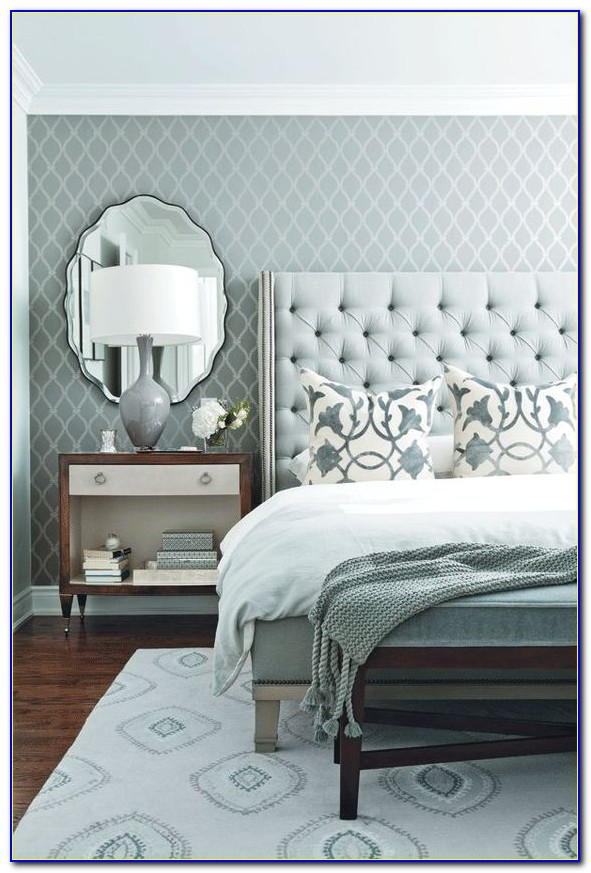 Black Tufted Headboard With Nailhead Trim