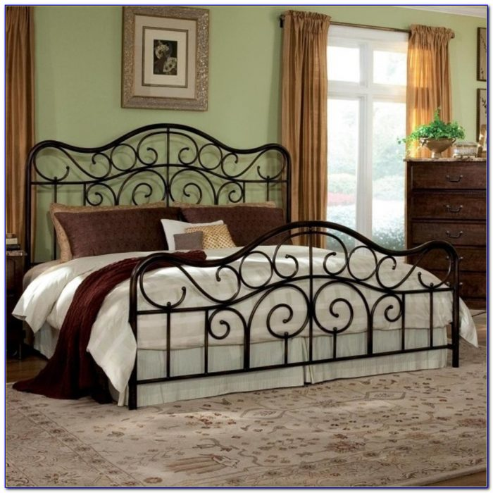 Black Wrought Iron Headboard King