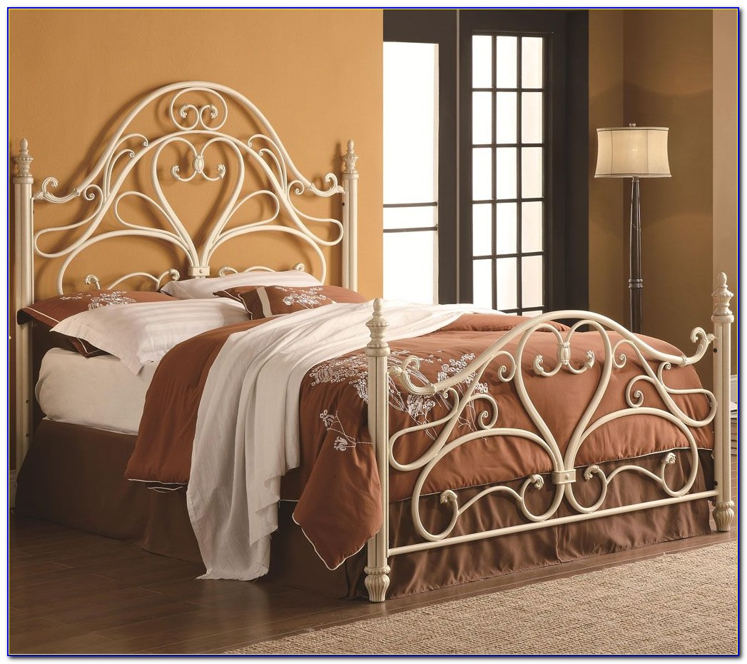 Bolt On Queen Size Metal Bed Frame For Headboard And Footboard
