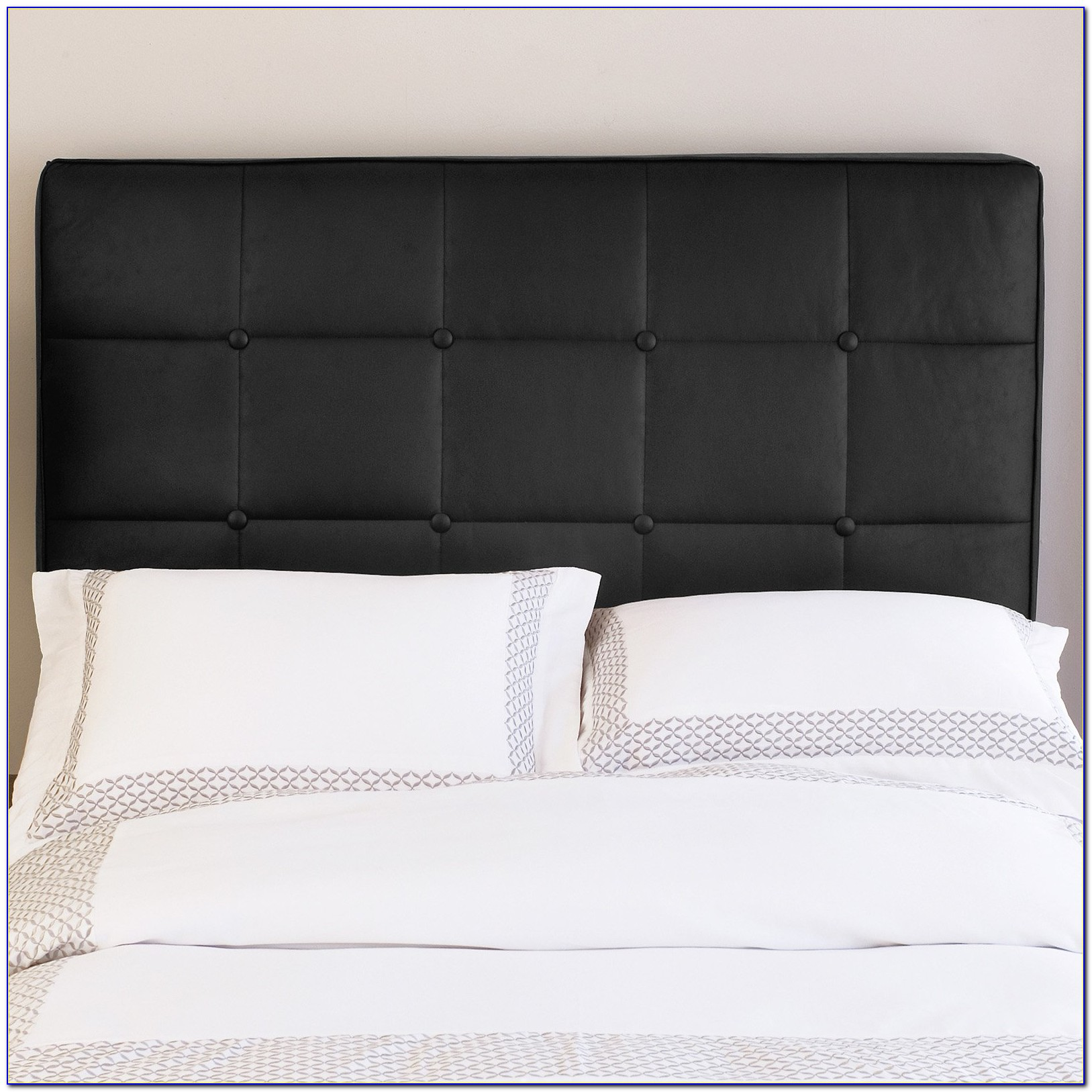 Brown Leather Tufted Headboard King