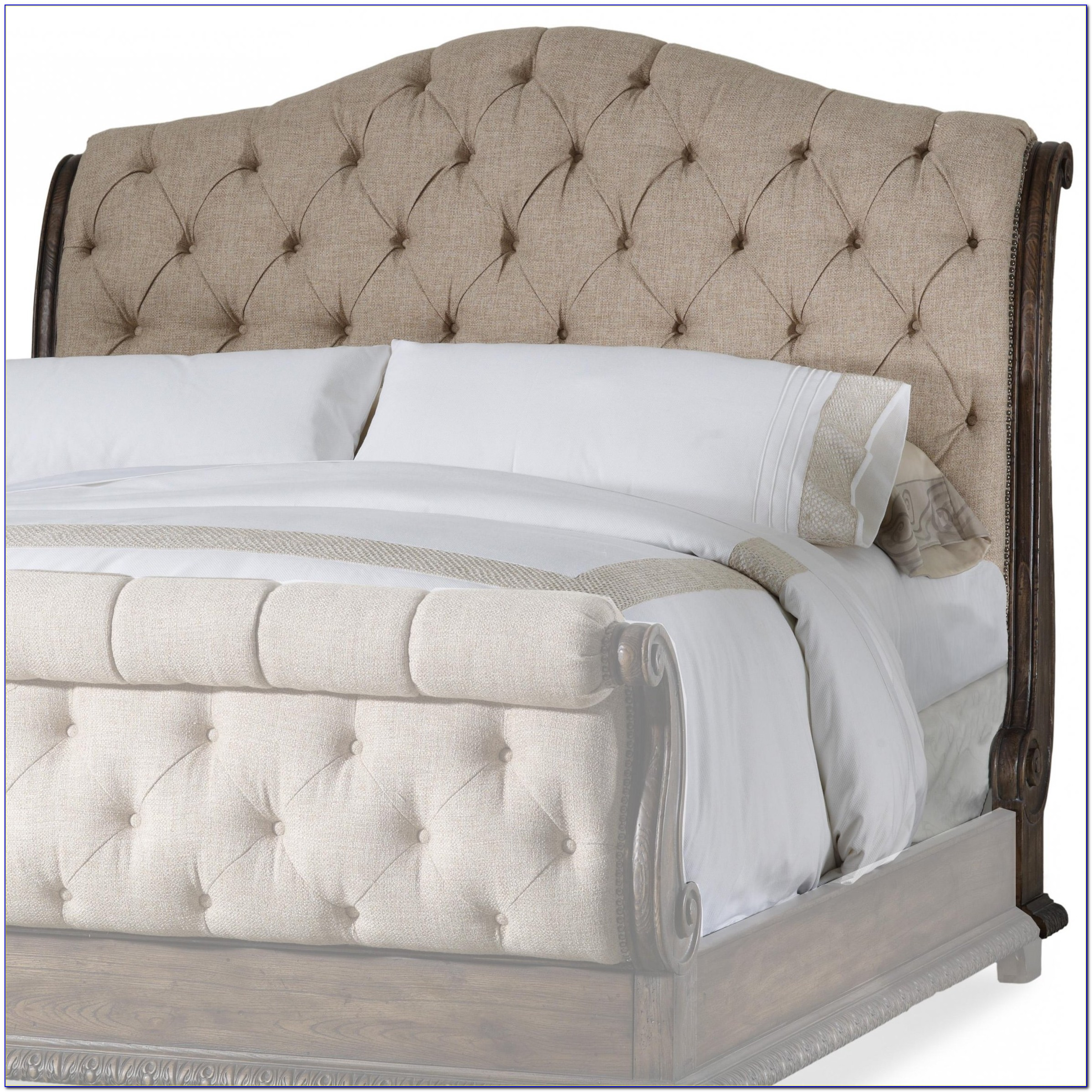 Cal King Tufted Leather Headboard