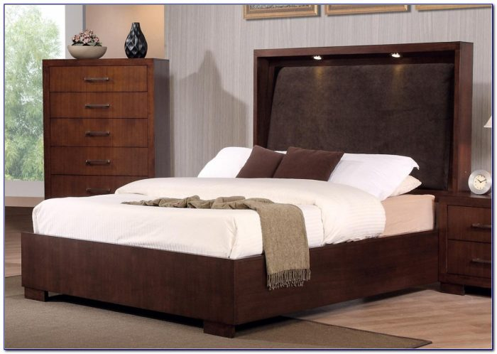 California King Bed Frame With Storage And Headboard