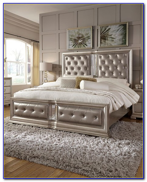 California King Tufted Leather Headboard