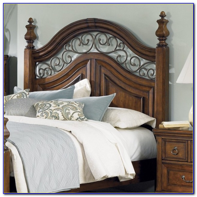 Combination Wood And Metal Headboards