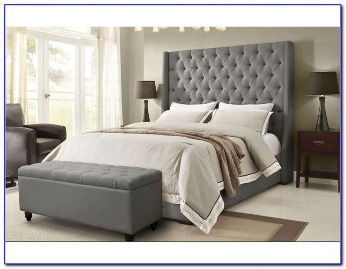 Dark Grey King Size Headboard