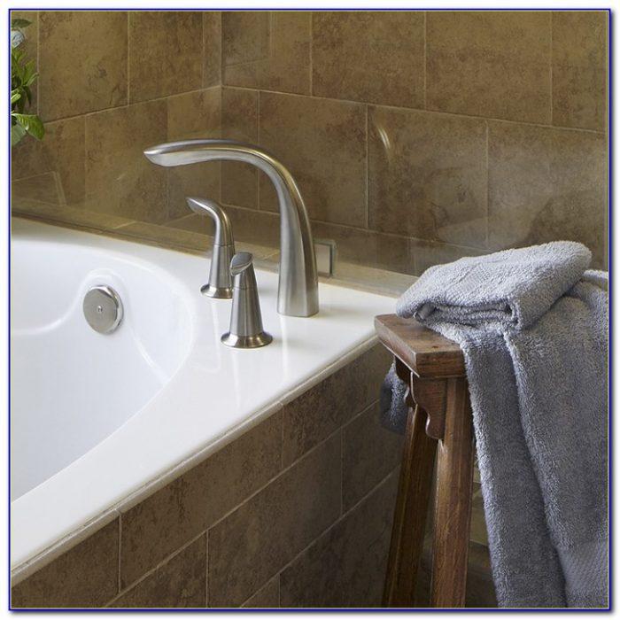 Deck Mount Tub Faucet With Shower Diverter