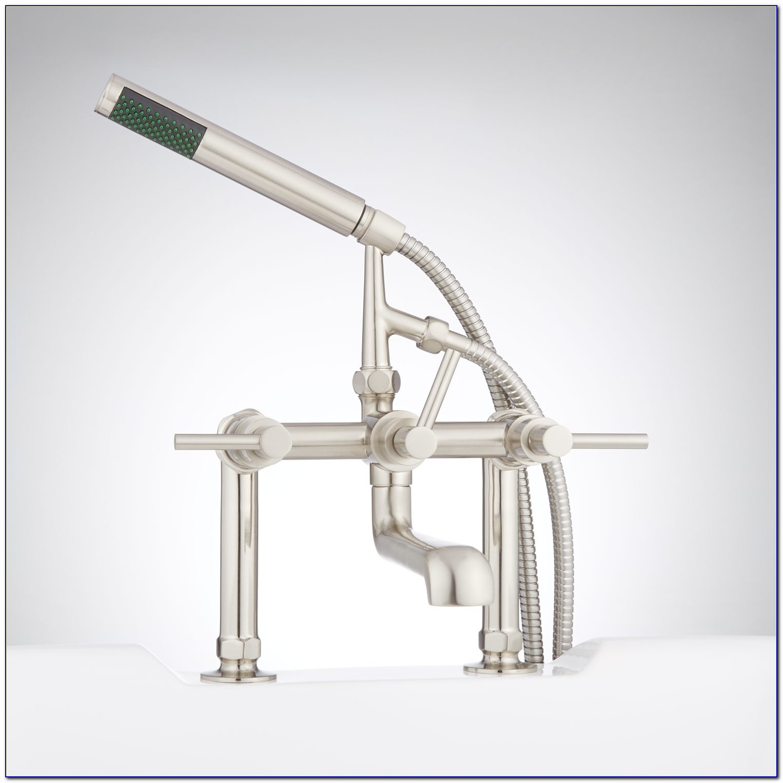 Whittington Deck Mount Tub Faucet And Hand Shower Lever Handles Regarding Measurements 1500 X 1500