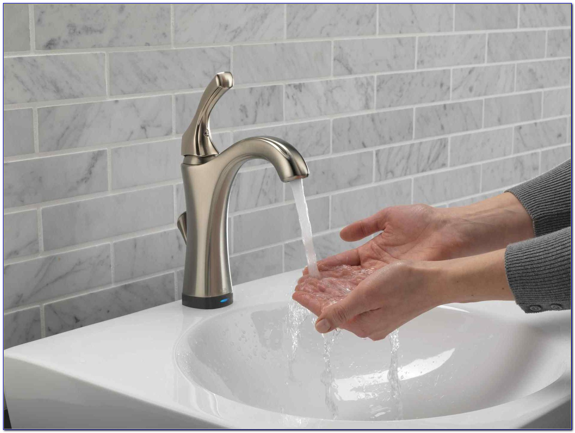Delta Touch2o Kitchen Faucet Red Light Faucet Home