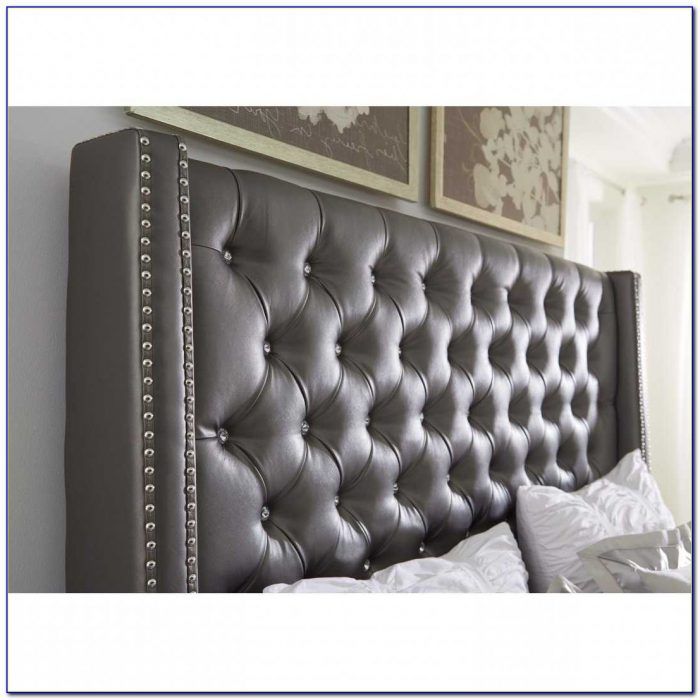 Diamond Tufted Headboard With Crystal Buttons
