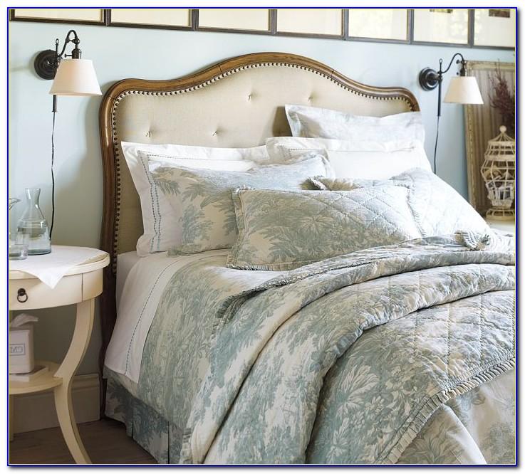Amazing Wood And Upholstered Headboard Atestate Inside Wood And Fabric Headboard