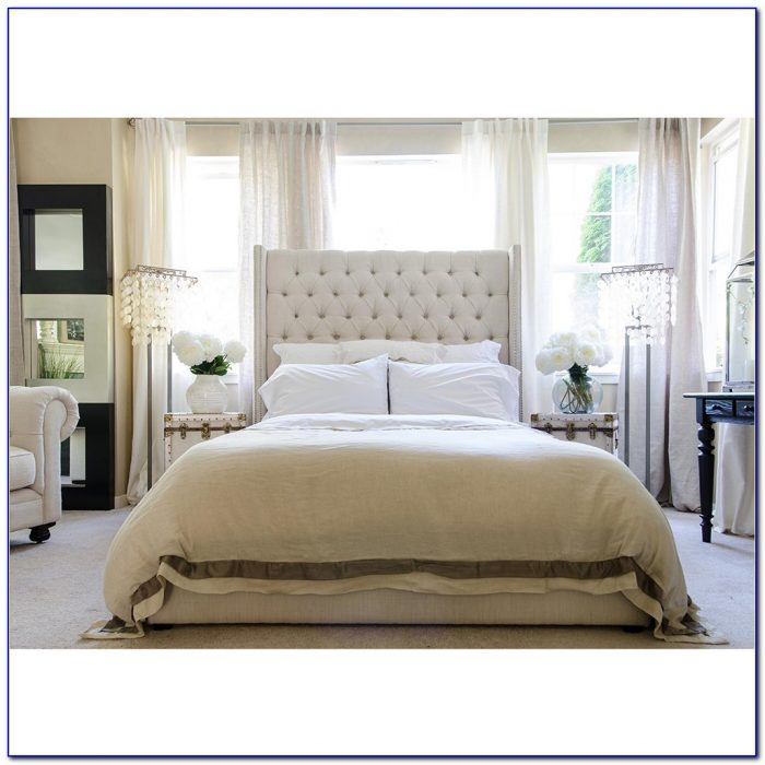 Diy Tufted Headboard With Nailhead Trim