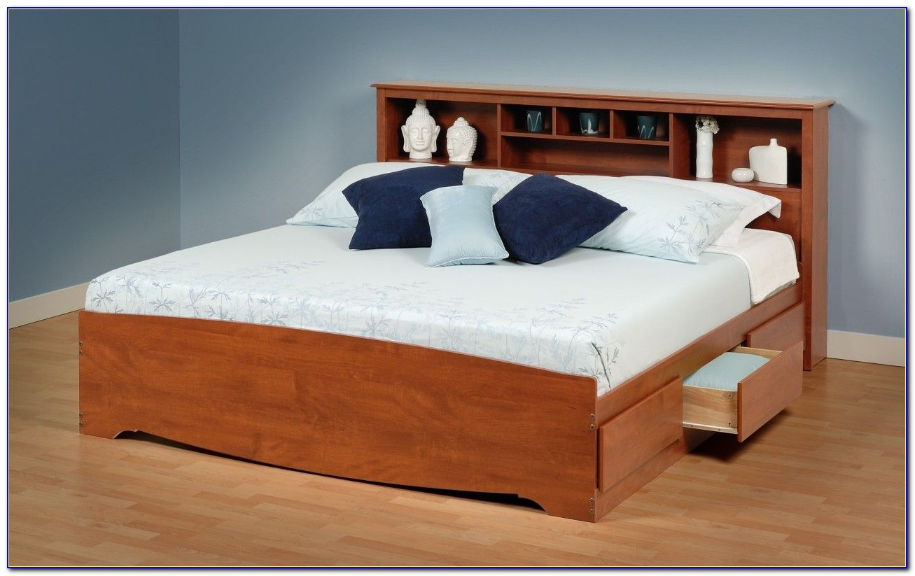 Double Bed Headboard With Storage