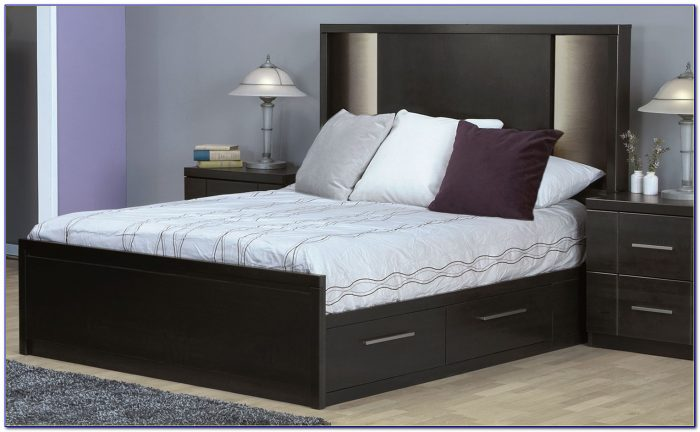 Double Beds With Headboard Storage