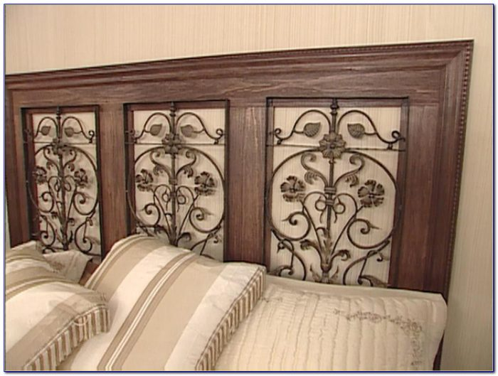 Dunhill Wood And Metal Headboard