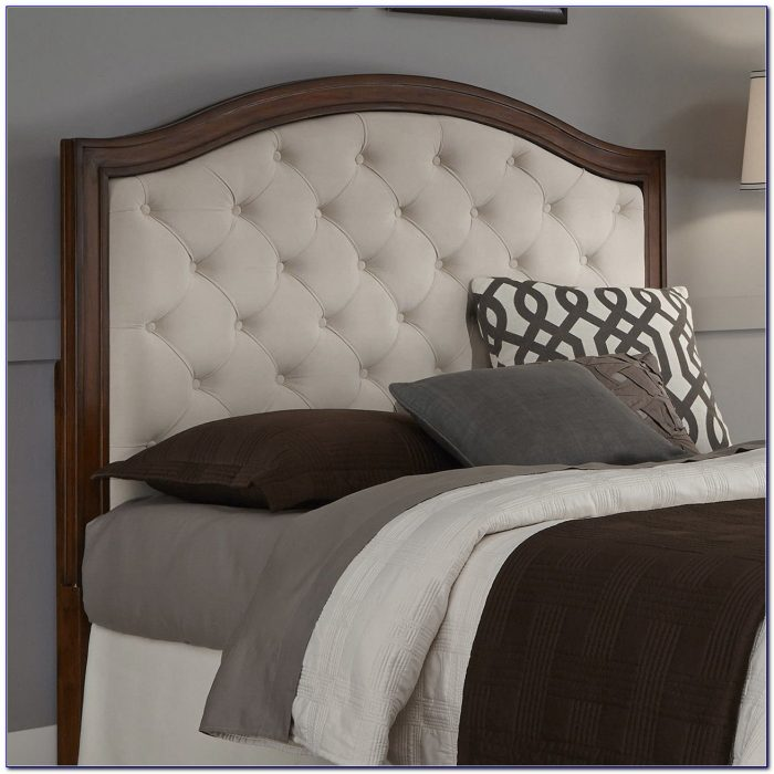 Fabric And Wood Headboard