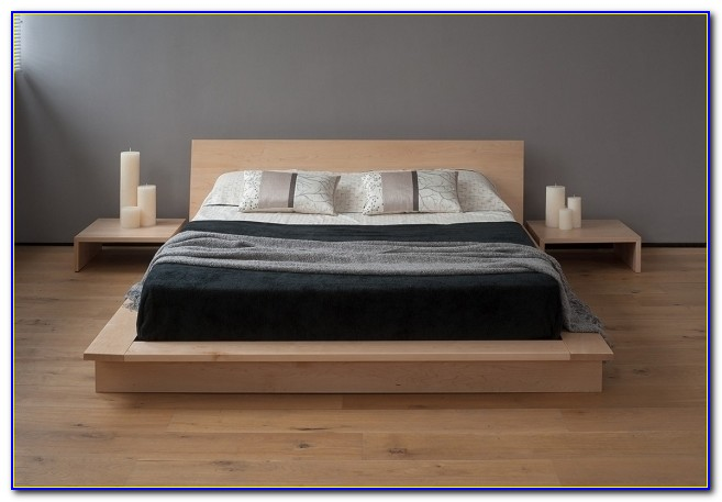 Floating Headboard Queen Platform Bed With Nightstands Modern Furniture Ideas Pictures 50