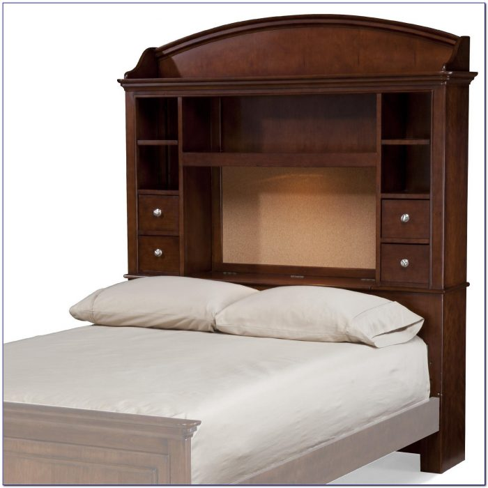 Full Size Headboards With Shelves