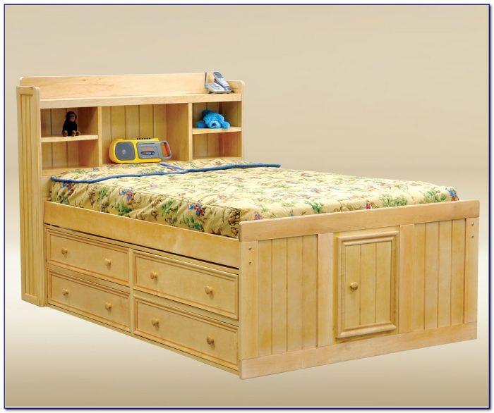 Full Size Storage Bed No Headboard