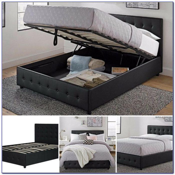 Full Size Storage Bed Without Headboard