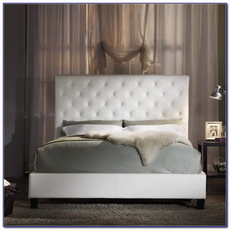 Full Size White Upholstered Headboard