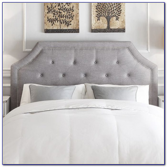 Grey Chenille King Size Headboard